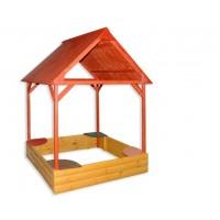 Пісочниця з дахом кольорова