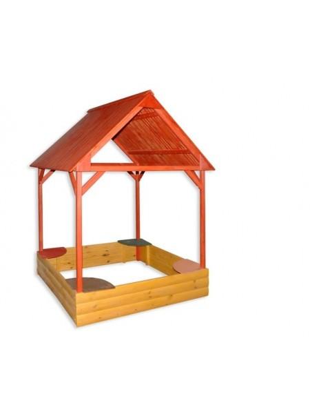 Песочница с крышей цветная