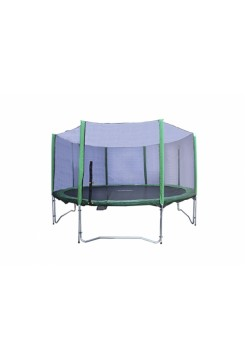 Батут Kidigo 304см с защитной сеткой зеленый