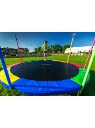 Батут Just Fun 374 см multicolor с защитной сеткой