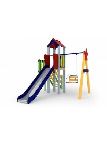 Детский комплекс Праздник, высота горки 1,5 м