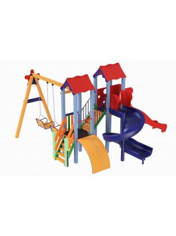 Дитячий комплекс Авалон з пластиковою гіркою