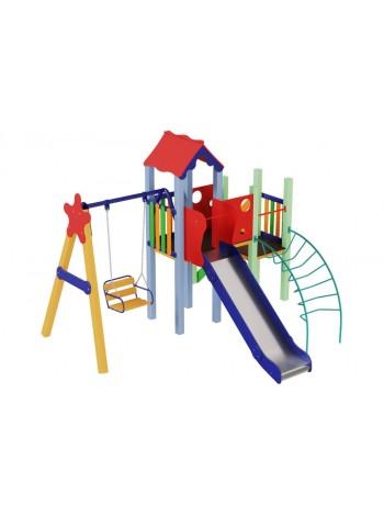 Детский комплекс Ласточка, высота горки 1,5 м