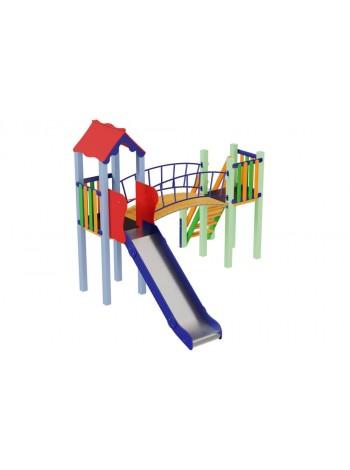 Детский комплекс Солнышко, высота горки 1,2 м