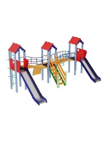 Дитячий комплекс Стіна, висота гірки 1,2 м і 1,5 м