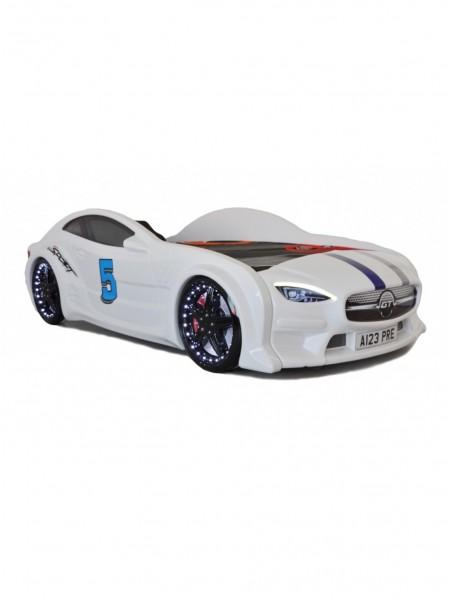 Кровать машинка GT белая