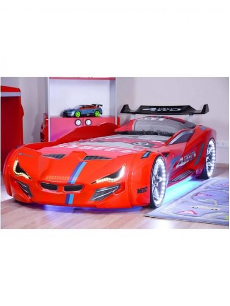Ліжко машинка BMW червона