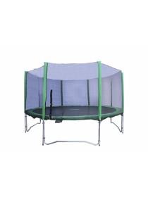 Батут Kidigo 366см с защитной сеткой зеленый