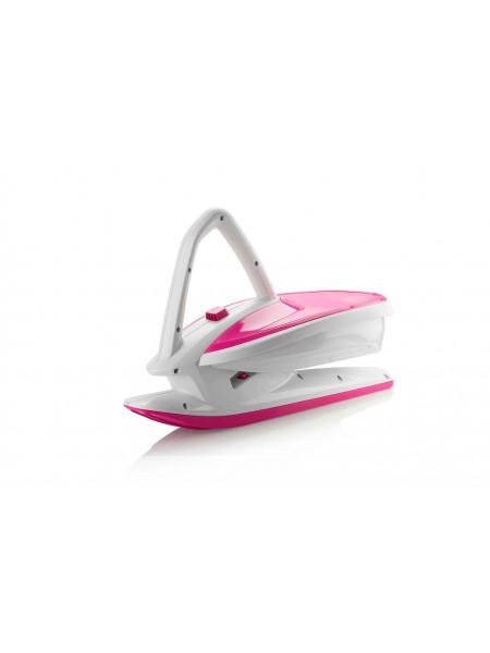Санки Plastkon Skidrifter білі з рожевим