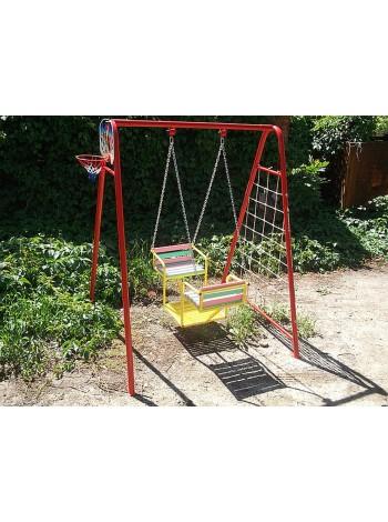 """Гойдалки дитячі """"Човник на ланцюгах"""" з ігровими елементами"""