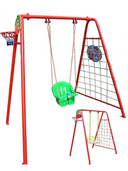 Детские качели 4 в 1 c игровыми элементами и дополнительным сидением