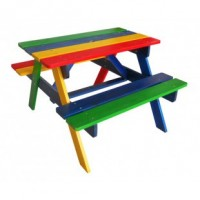 Дитячий столик з лавочками садово-вуличний