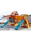 Дитячий майданчик Spielplatz Томас Брукліні з двома гірками, лазами, канатної драбинкою і подвійний гойдалкою