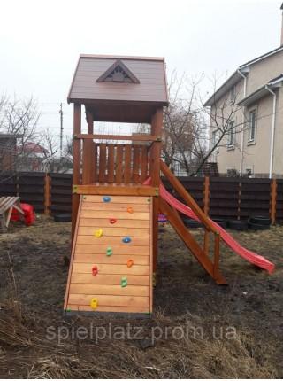 Дитячий майданчик Spielplatz Томас з гойдалкою, альпійської стінкою і пісочницею