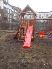Детская площадка Spielplatz Томас с качелью, альпийской стенкой и песочницей