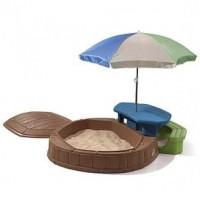 Песочница Step2 8437 со столиком и зонтом