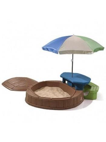 Пісочниця Step2 8437 зі столиком і парасолькою