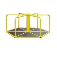 Карусель детская, шестиугольная. Для катания стоя.