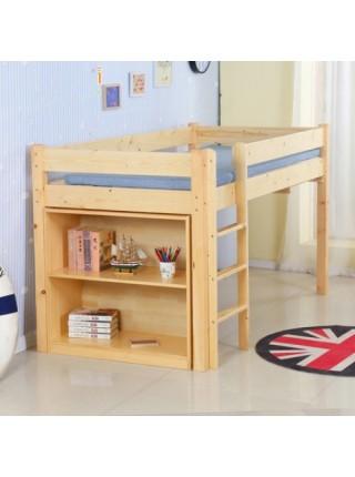 Ліжко-горище з висувним столом і стелажем