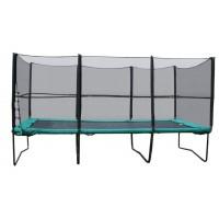 Прямоугольный батут KIDIGO 457х305 см. с защитной сеткой + лестница