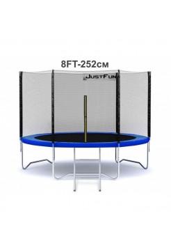 Батут Just Fun 252см Blue сеткa + лесенка