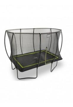 Батут EXIT Silhouette с защитной сеткой прямоугольный 214x305см чёрный на ножках