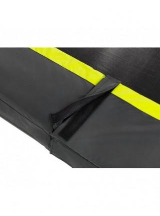 Батут EXIT Silhouette із захисною сіткою прямокутний 214x305см чорний на ніжках