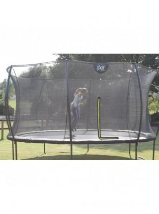 Батут круглый EXIT Silhouette 244 см с внутренней защитной сеткой чёрный