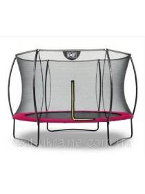 Батут EXIT Silhouette 305 см з внутрішньою захисною сіткою рожевий
