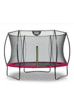Батут EXIT Silhouette 305 см с внутренней защитной сеткой розовый