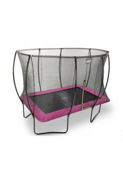 Батут EXIT Silhouette с защитной сеткой прямоугольный 244x366см розовый на ножках