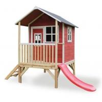 Дитячий дерев'яний будиночок з гіркою