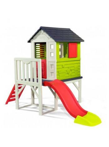 Игровой домик на сваях с горкой 150 см Smoby 810800