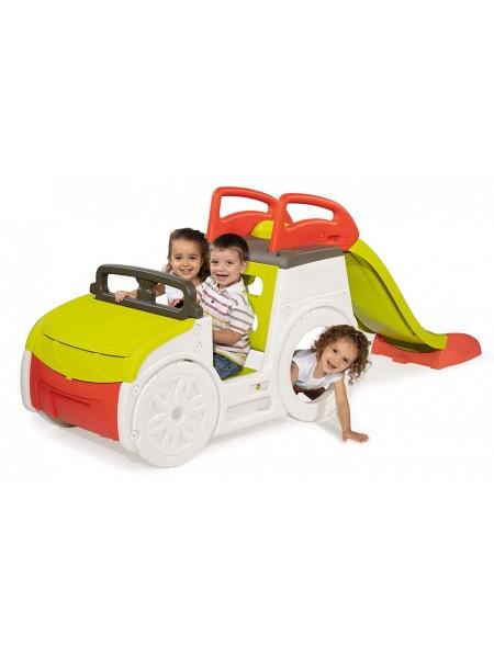 Игровой центр Автомобиль приключений Smoby 840205 с горкой, багажником и звуковым эффектом