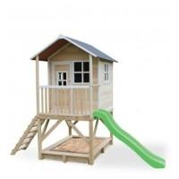Дитячий дерев'яний будиночок з пісочницею і гіркою 180см