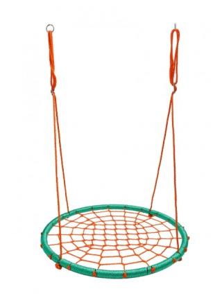 Качели Гнездо Аиста 100 см Play4Fun Бирюзово Оранжевый