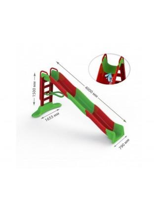 Гірка для катання дітей з водним ефектом 4000мм 01450