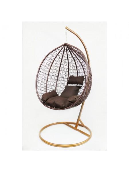 Подвесное кресло-качалка кокон B-183B (коричневое)