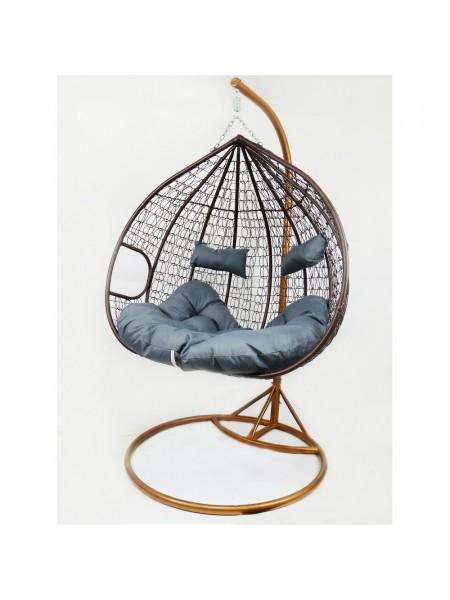 Подвесное кресло-качалка кокон B-183Е (коричнево-серое)