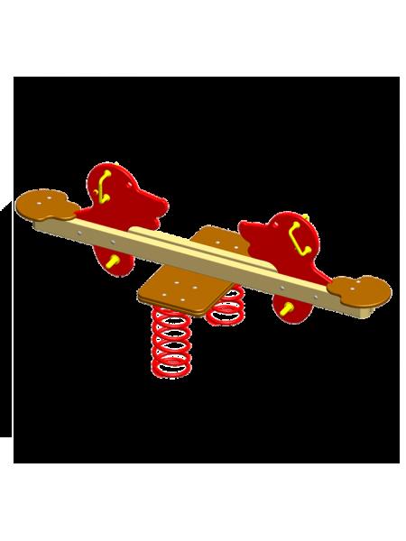 П055 Пружинная качель «Собачка-балансир»
