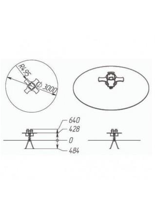 П076 Пружинная качель «Крестовинка»