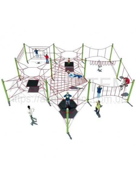 Канатний ігровий комплекс А01