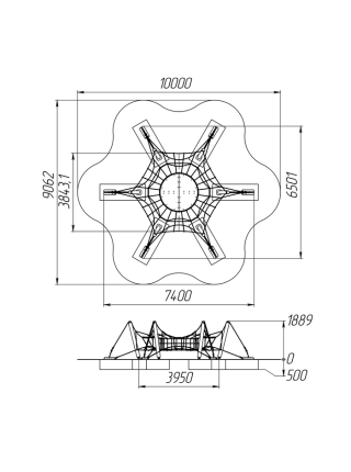 Канатный комплекс «Паук»