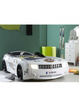 Ліжко-машина Camaro пластик біла