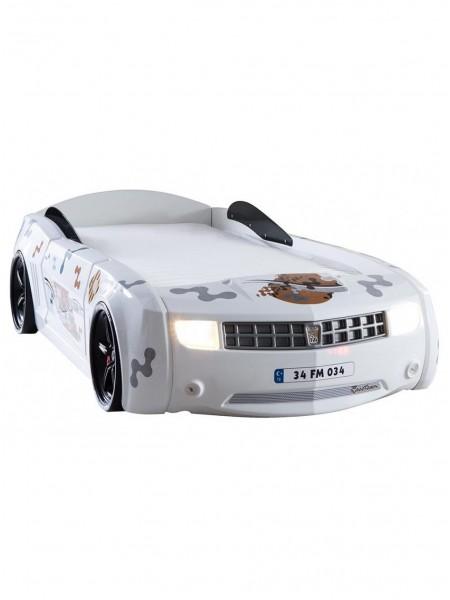 Кровать-машина Camaro пластик белая
