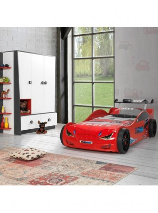 Ліжко-машинка Суперкар червона