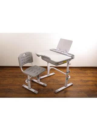 Комплект меблів шкільних (стіл учнівський та стілець учнівський) арт.31215grey