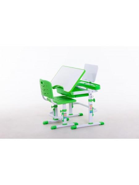 Комплект меблів шкільних (стіл учнівський та стілець учнівський) арт.31213 green
