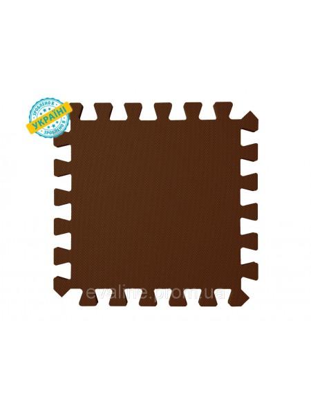 Мягкий пол (коврик-пазл 30*30*1 см) коричневый