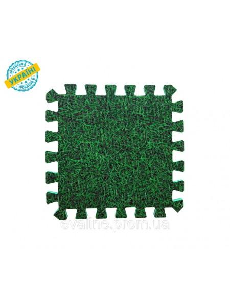 Мягкий пол (коврик-пазл 30*30*1 см) Трава/Дуб